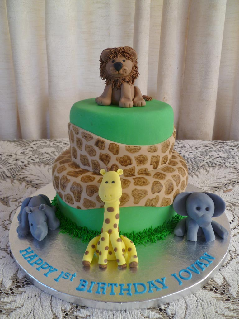 Safari Animals Cake Safari Animal Cake