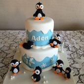 Penguin Cake 2 tier (25 serves) $180