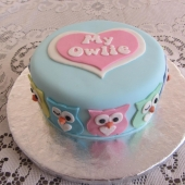 Cute Owl Cake (15 serves) $120