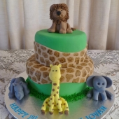 Safari Animal Cake (40 serves) $220