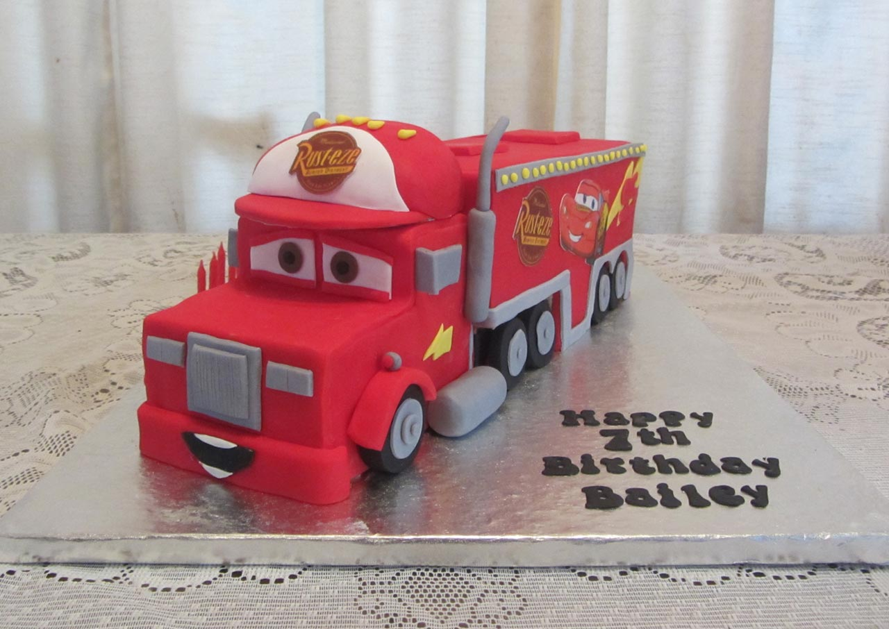 Mack Cars Cake http://rozziescakes.co.nz/cars-trucks-cakes/