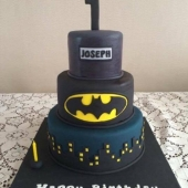 3 tier Batman Cake (50 serves) $300