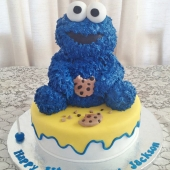 Cookie Monster Cake (30 serves) $190