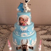 3 tier Frozen Cake (50 serves) $300