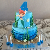 Ariel Mermaid Cake (25 serves) $180