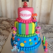 Lala Loopsy Cake (50 serves) $260 - dolls supplied by customer