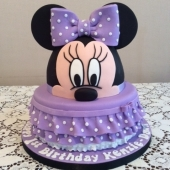 Minnie Mouse Face 2 tier (45 serves) $290