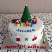 Christmas Birthday Cake (40 serves) $200 (25 serves) $170 (15 serves) $120