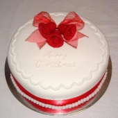 Red Bells Christmas Cake (25 serves) $140