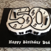 Musical 50th Cake (30 serves) $200