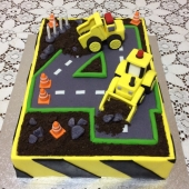 Number 4 Construction Cake (35 serves) $240