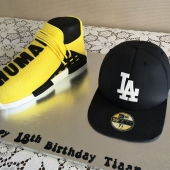 Addidas Human Race Shoe (30 serves) $200 LA Cap (25 serves) $160