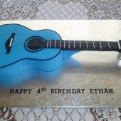Blue Guitar Cake (30 serves) $200