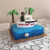Fishing Boat Cake (40 serves) $200