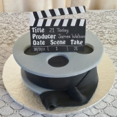 Film Reel Cake (25 serves) $190
