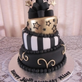 Gold Black & white Topsy Turvy (85 serves) $480