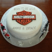 Harley Davidson (25 serves) $170 decorations supplied by client