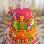 Coloured 3 tiered (75 serves) $290