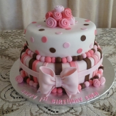 Pink Bow and Roses (60 serves) $260