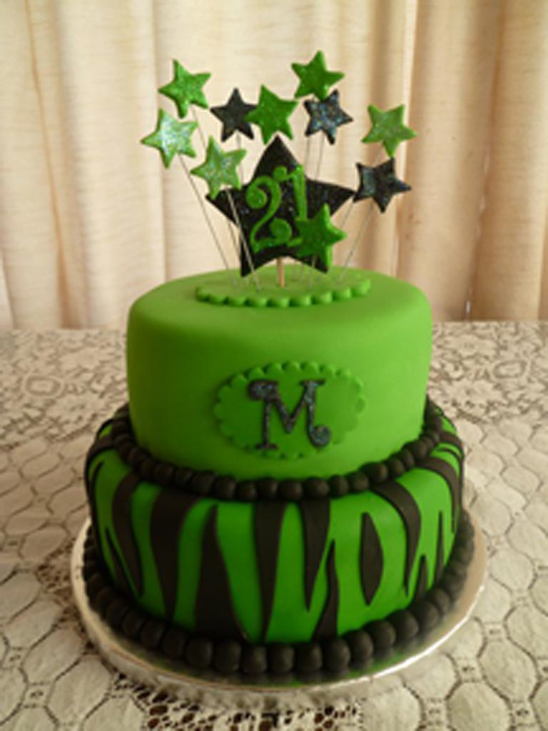 Photos Of Green Birthday Cake Prezup for