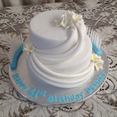 21st Draping Cake (40 serves) $190