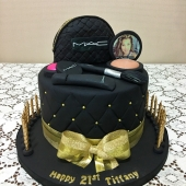 Mac Makeup Cake (50 serves) $330
