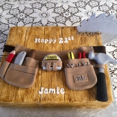 Builders Tool Belt Cake (50 serves) $330