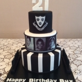Black & White Photo Cake (50 serves) $300