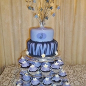 Purple Zebra Stripes (40 serves) $200 Cupcakes $60 per dozen